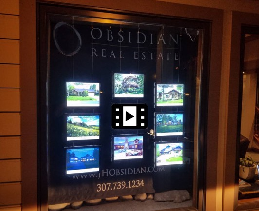 real estate window led display