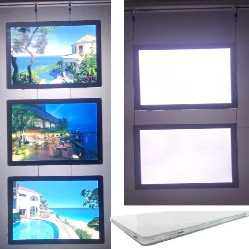2019 cable real estate digital signs light window display led light pocket