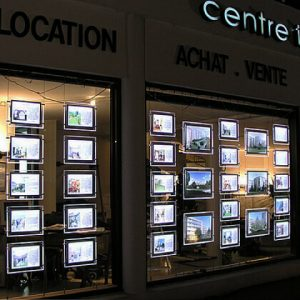 Cable-Real-estate-sign-poster-frame-a1-a2-a3-a4-led-window-display