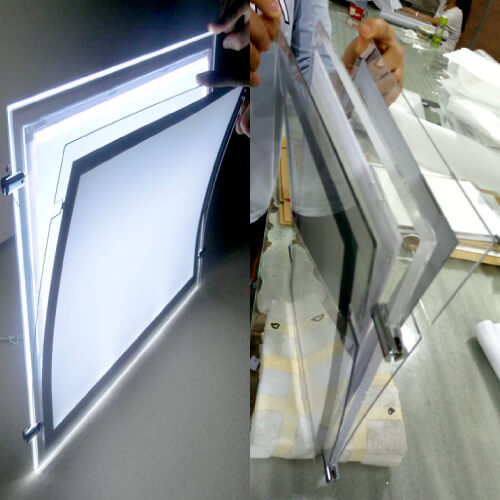 Double side Single side Real Estate Acrylic Sign Holder Advertising Window Led Displays