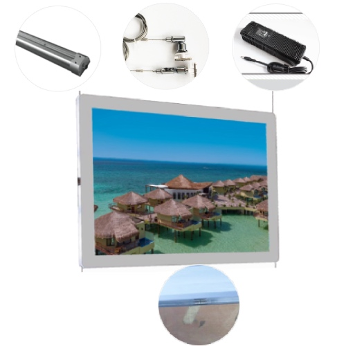 Rail System for Estate agent led edgelit signs window display acrylic led poster frame