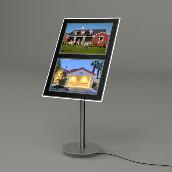 Floor Free Stand Real Estate Front Window Led Display