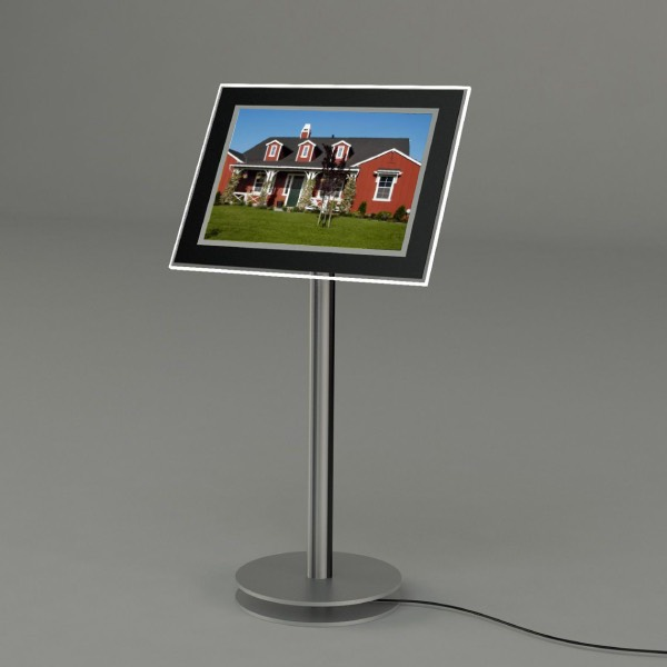Floor Free Stand Real Estate Led Light pocket