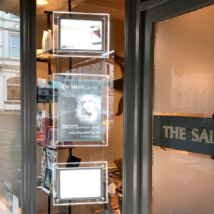 Hair-Salon-led-window-displays-acrylic-poster-frames