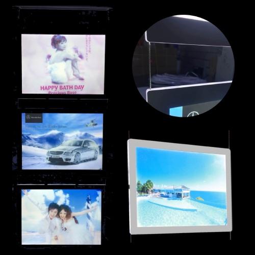 New Christmas Cable hanging window display led edge lit sign base digital photo frame