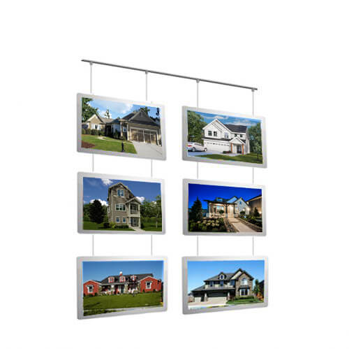 Real-Estate-Agent-Acrylic-LED-Folders-Poster-Sign-Frames-Backlit-Window-Displays