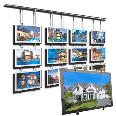 2019 new Christmas a3 a4 Real Estate window display ideas cable acrylic window signage door signs led frame wholesale
