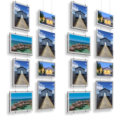 Teardrop Hanging a3 a4 Real Estate window display ideas cable acrylic window signage