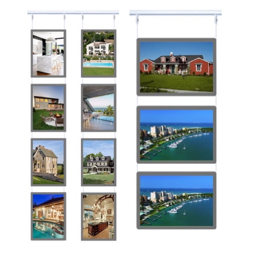 Real-estate-cable-hanging-system-acrylic-signage-illuminated-led-listing-display