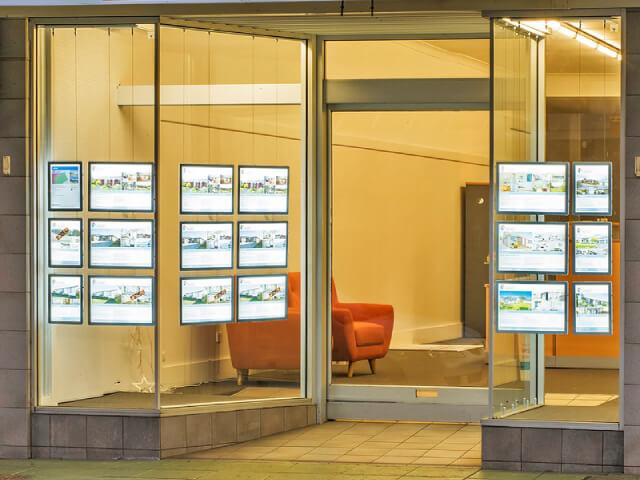 Real estate window led display poster frame