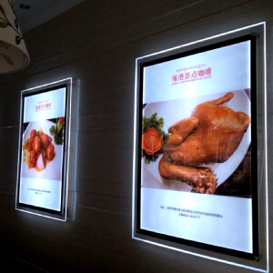 Restaurant-store-front-led-display-flexible-led-poster-frame-acrylic-listing-folder-indoor-led-signage