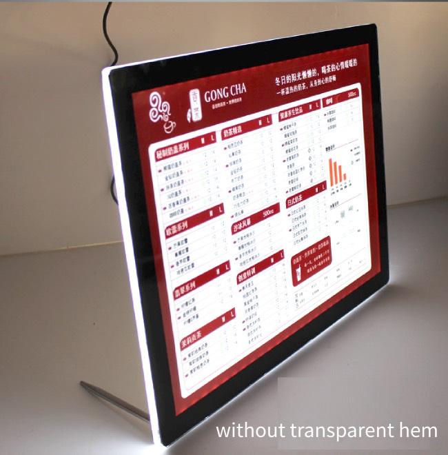 Table top acrylic led light box