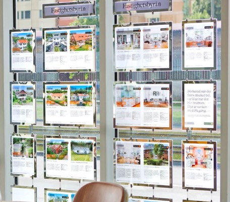 a3 a4 Real Estate window display ideas cable acrylic window signage door signs led frame