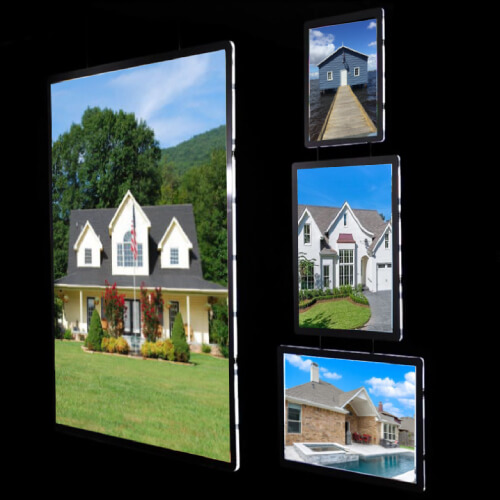 2019 New Christmas Estate Agent A3 Advertising Light Box Window Sign Poster Frame Led Window Display