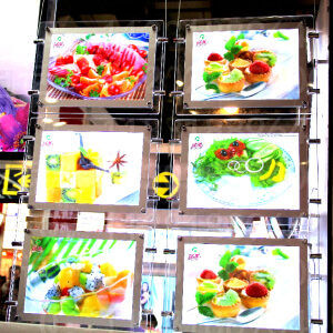 restaurant-led-transparent-display-advertising-acrylic-picture-frame-slim-led-light-panel