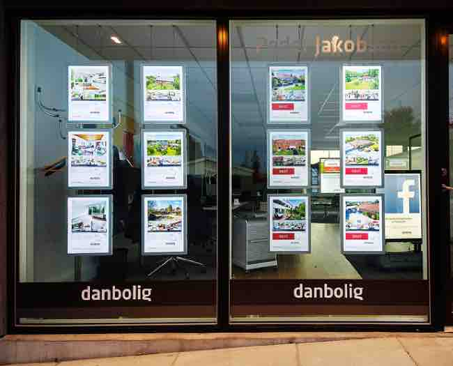 Real Estate Light Box Window Sign Poster Frame Led Window Display