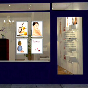 window-displays-Hair-Salon-acrylic-light-holder-acrylic-led-signs