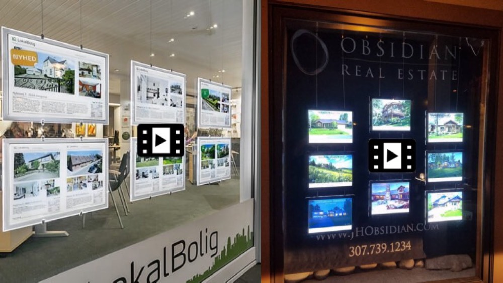 real estate window digital displays