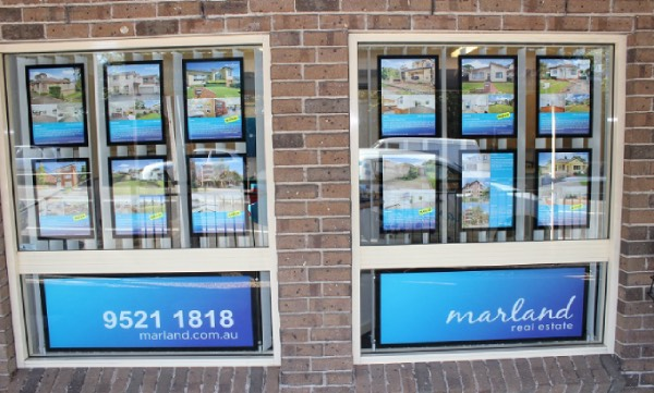 Real Estate Lightbox Poster Frames Shop Signs
