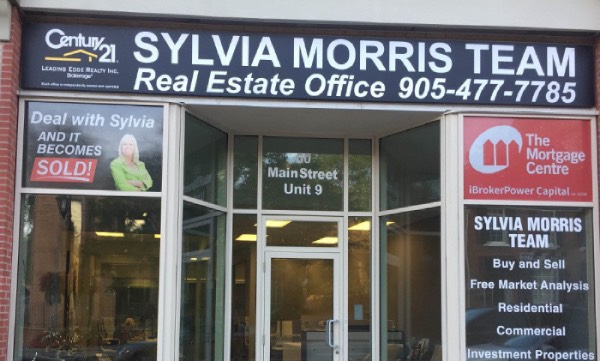 Real Estate Window Displays Light Box Signs