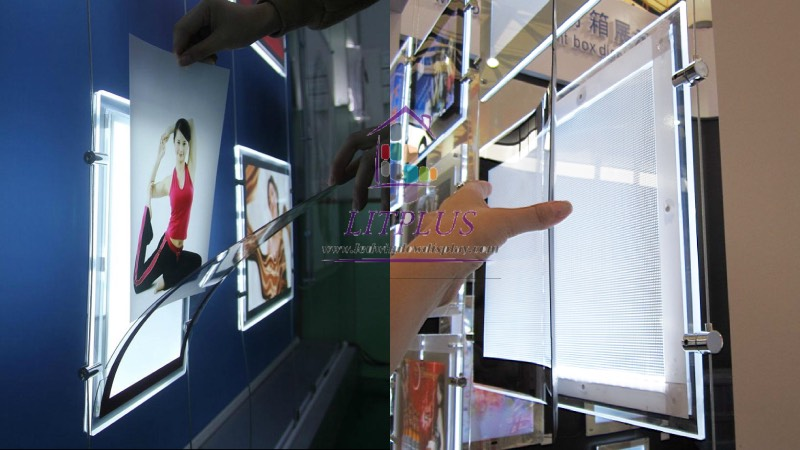 magnetic frame led window display