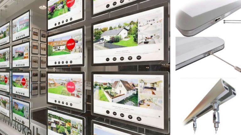 Minimum order quantity for 2019 Christmas Estate Agent Window Display Edge Lit Acrylic Poster Frames Light Box