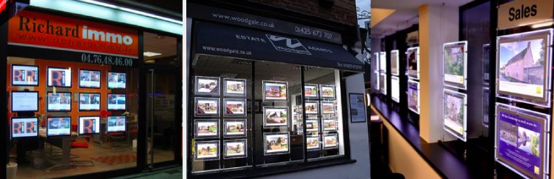 estate agent real estate led poster frames