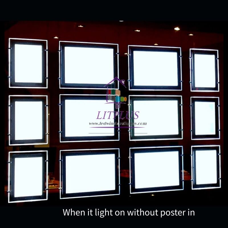 Real Estate A3 A4 advertising Led Light Box Acrylic Window Display Suspend Led Light Listing Sign