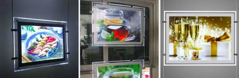 restaurant led window display