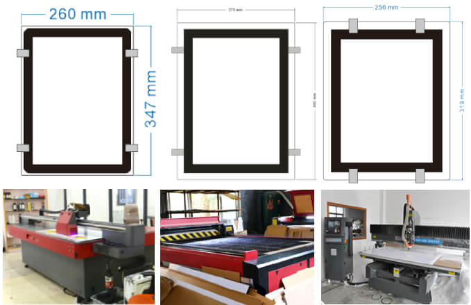 Acrylic led window display CAD picture and its frame cutting by cutting machine