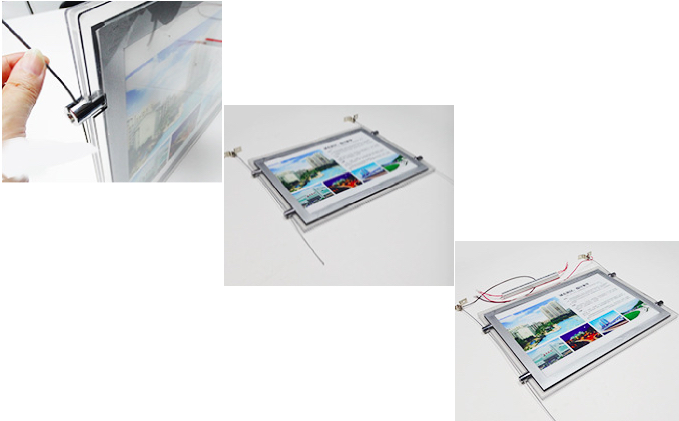 led estate agent window display hardware installing