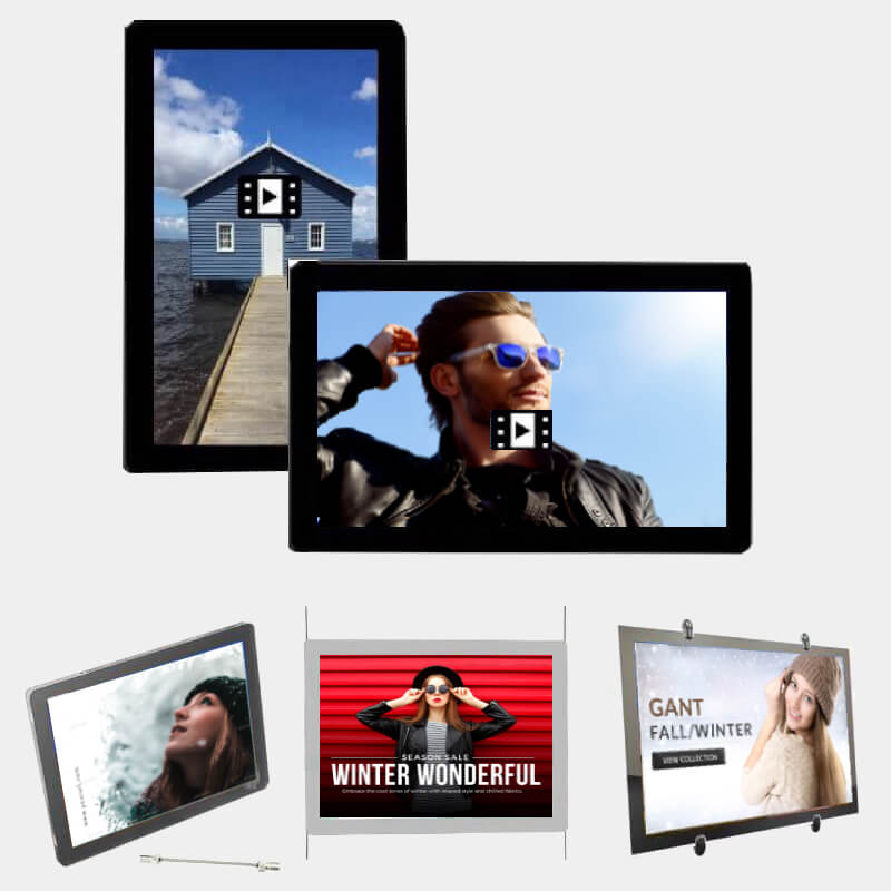 retail window lcd display