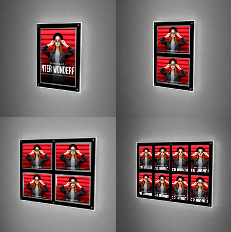 retail store wall led displays