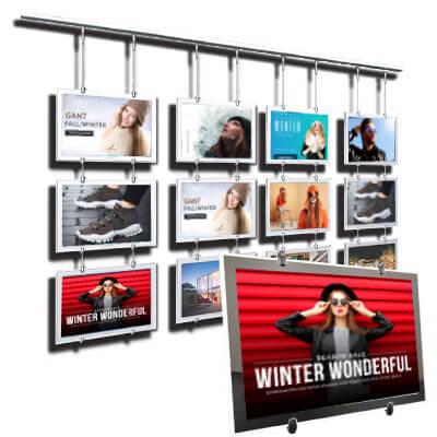 retail shop hanging window displays