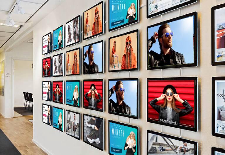 wall mounted led window displays
