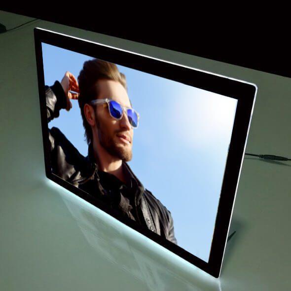 Desktop-backlit-window-display-frame